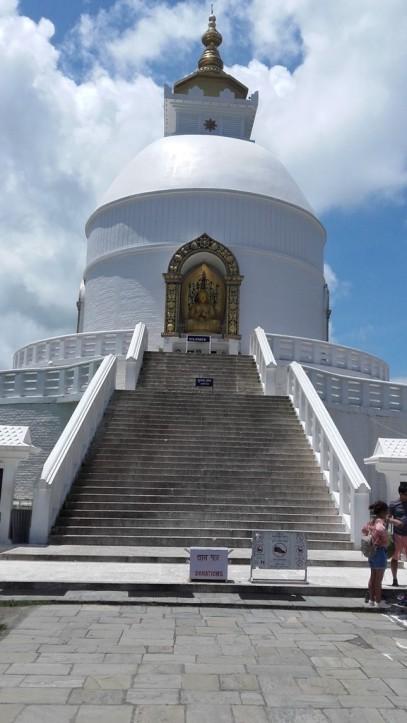 WP vue sur le stupa